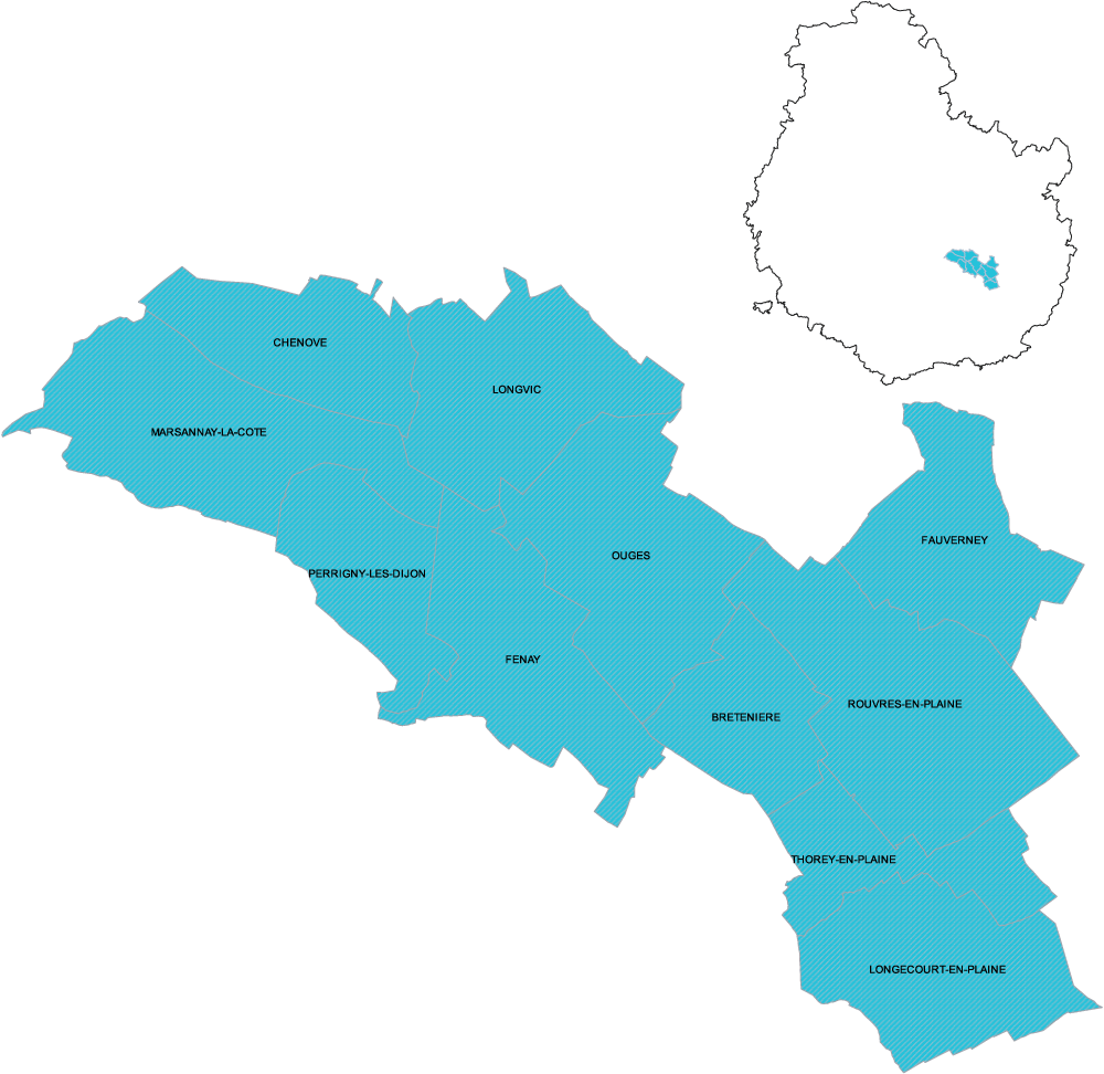 DSDEN 21 carte de la circonscription de Chenôve